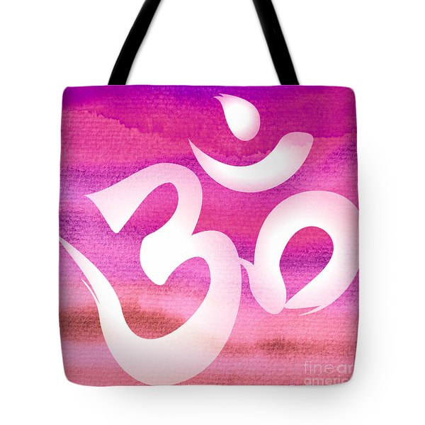 Om Symbol. Pink Tote Bag
