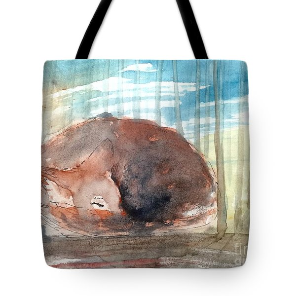 Tote Bag featuring the painting Peace by Trilby Cole