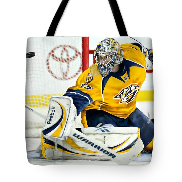 Tote Bag featuring the digital art Pekka Rinne by Don Olea
