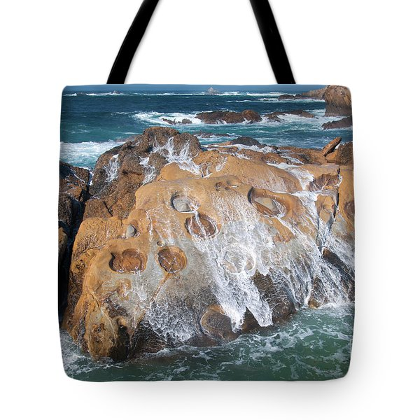 Point Lobos Concretions Tote Bag by Glenn Franco Simmons