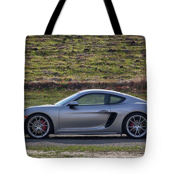 Tote Bag featuring the photograph #porsche #718cayman S #print by ItzKirb Photography