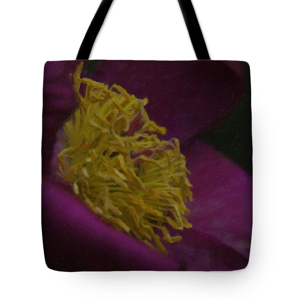 Purple Flower Tote Bag by Andre Faubert