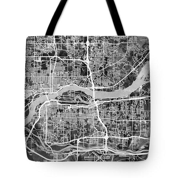 Davenport Iowa Tote Bags | Fine Art America |Vertical Quad Cities