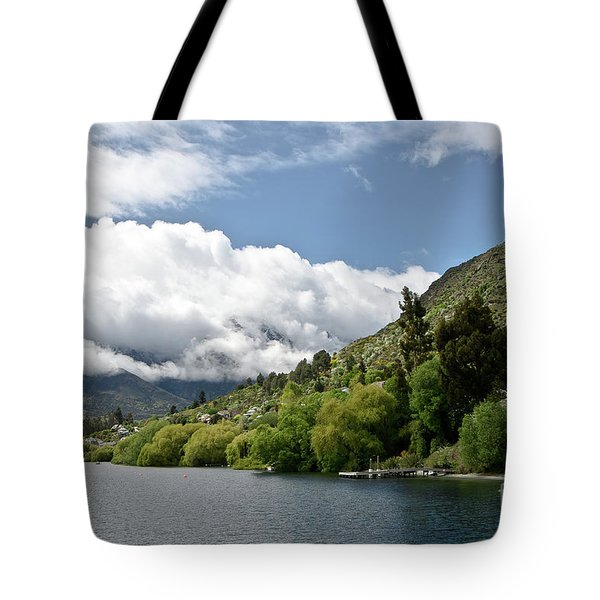 Queenstown New Zealand. Remarkable Ranges And Lake Wakatipu. Tote Bag