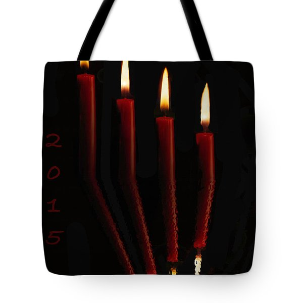 4 Reflected Candles Tote Bag