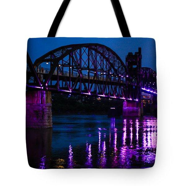 Rock Island Bridge Arkinsas Tote Bag by Chris Smith