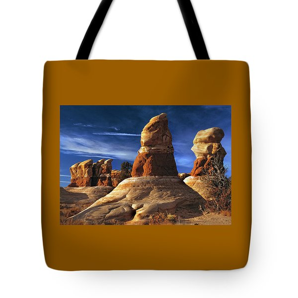 Sandstone Hoodoos In Utah Desert Tote Bag