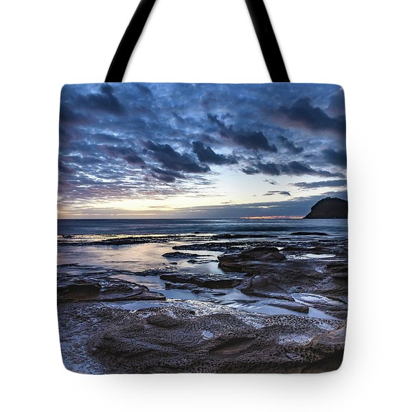 Seascape Cloudy Nightscape Tote Bag