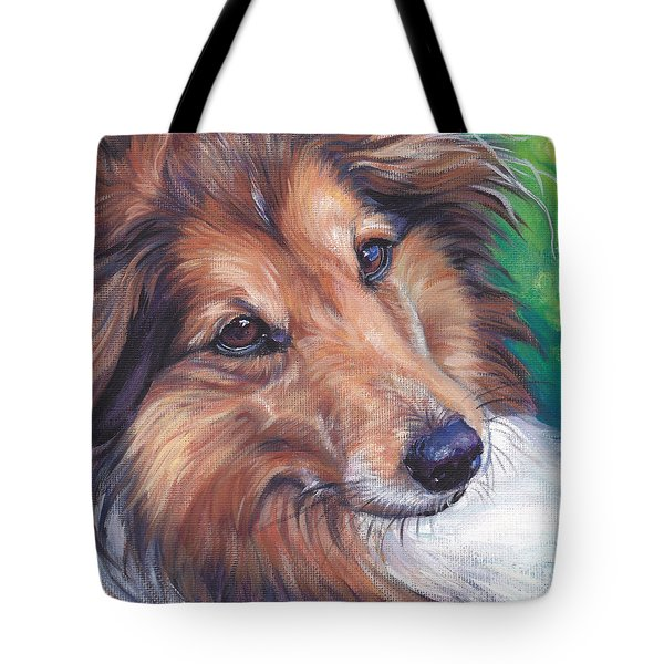 Shetland Sheepdog Tote Bag by Lee Ann Shepard