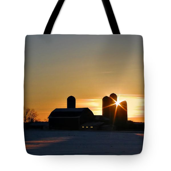 Tote Bag featuring the photograph 4 Silos by Judy  Johnson