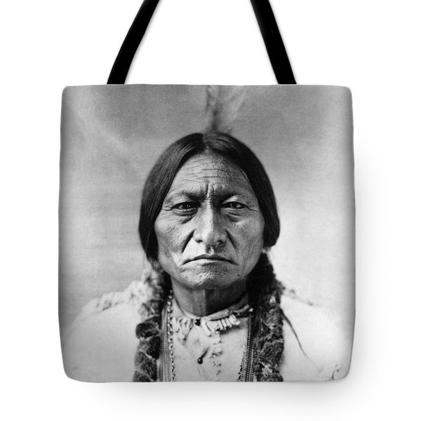 Tote Bag featuring the photograph Sitting Bull 1834-1890. To License For Professional Use Visit Granger.com by Granger
