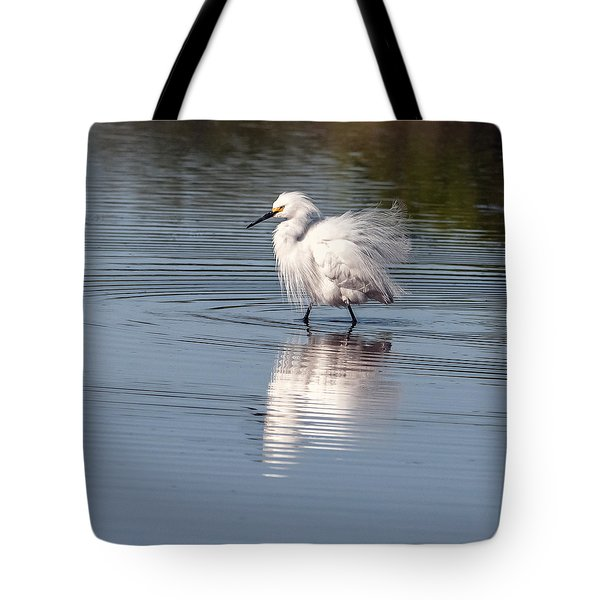Snowy Egret Tote Bag by Tam Ryan