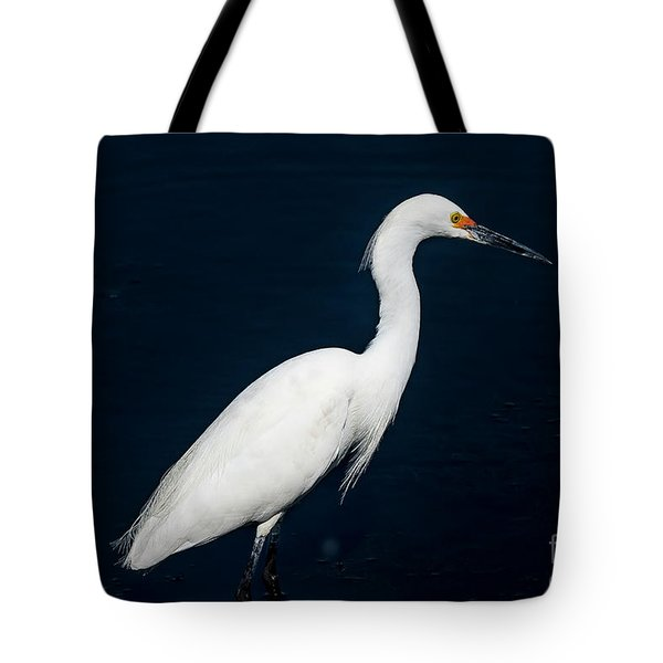 Tote Bag featuring the photograph Snowy White Egret by Michael D Miller