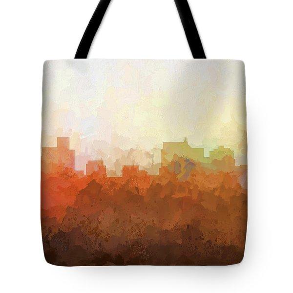 Tote Bag featuring the digital art Springfield Illinois Skyline by Marlene Watson