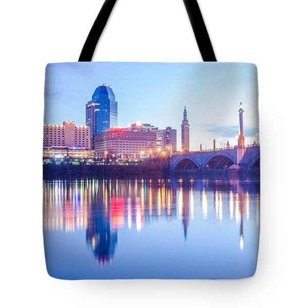 Springfield Massachusetts City Skyline Early Morning Tote Bag