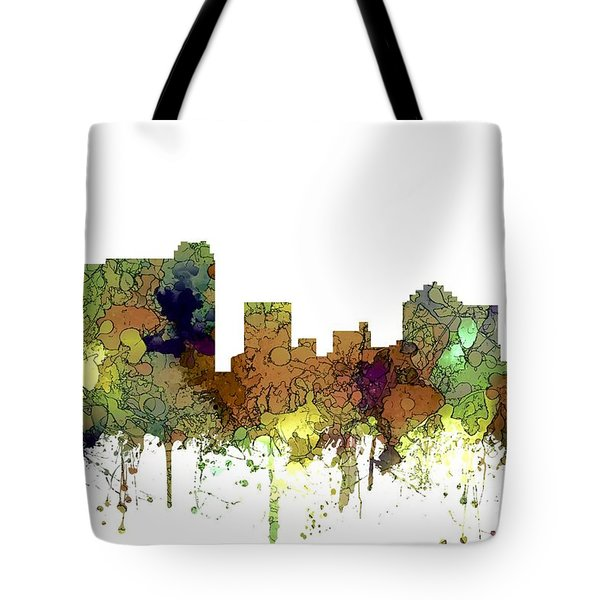 Tote Bag featuring the digital art St Petersburg Florida Skyline by Marlene Watson