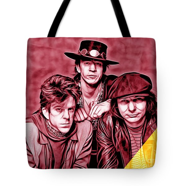 Stevie Ray Vaughan And Double Trouble Collection Tote Bag by Marvin Blaine