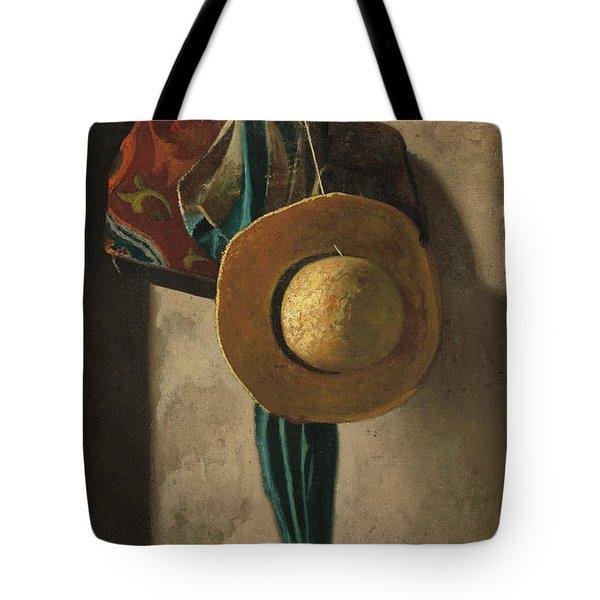 Straw Hat, Bag And Umbrella Tote Bag