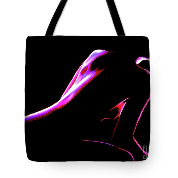 Tote Bag featuring the painting 4 Strokes by Tbone Oliver