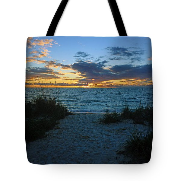 Sunset At Delnor Wiggins Pass State Park Tote Bag by Robb Stan