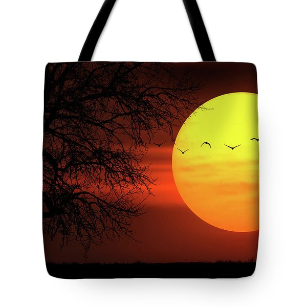 Sunset Tote Bag by Bess Hamiti