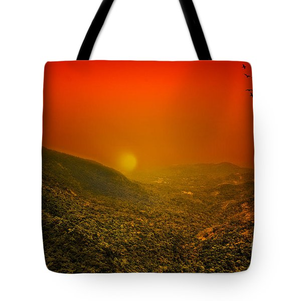 Sunset Tote Bag by Charuhas Images