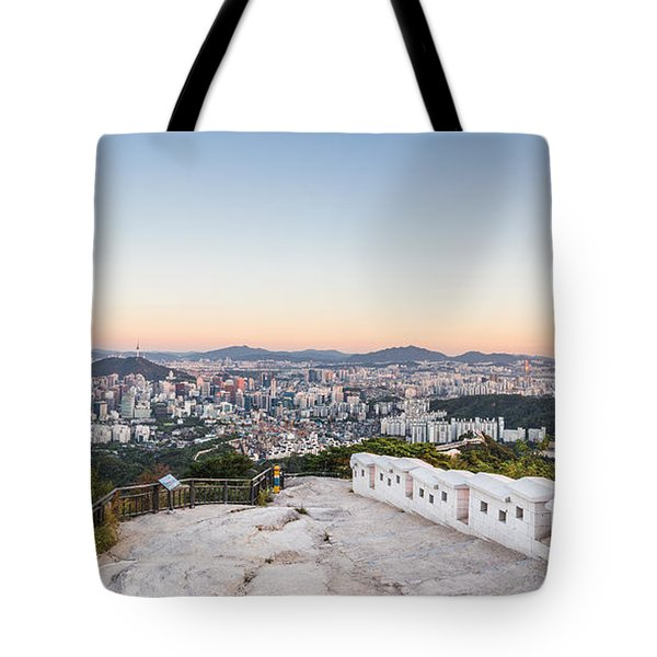 Sunset Over Seoul Tote Bag