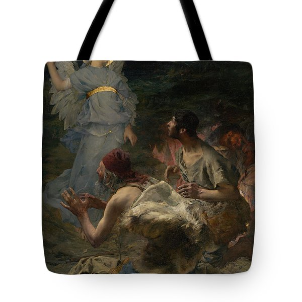 The Annunciation To The Shepherds Tote Bag