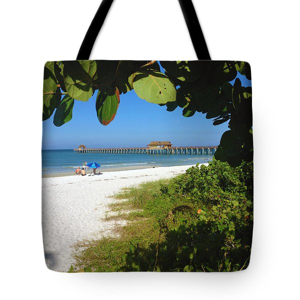 The Historic Naples Pier Tote Bag