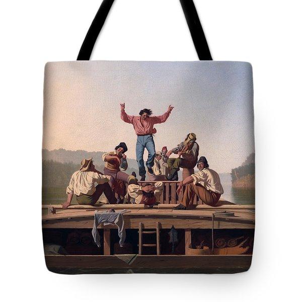The Jolly Flatboatmen Tote Bag