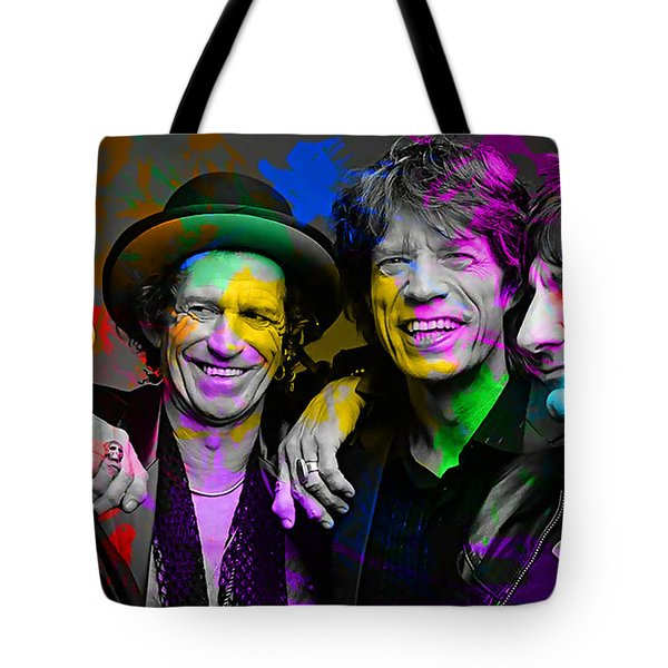The Rolling Stones Tote Bag by Marvin Blaine