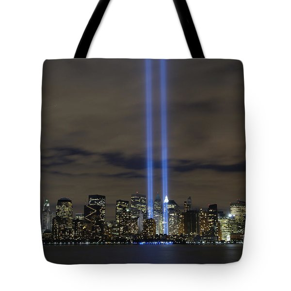 The Tribute In Light Memorial Tote Bag by Stocktrek Images