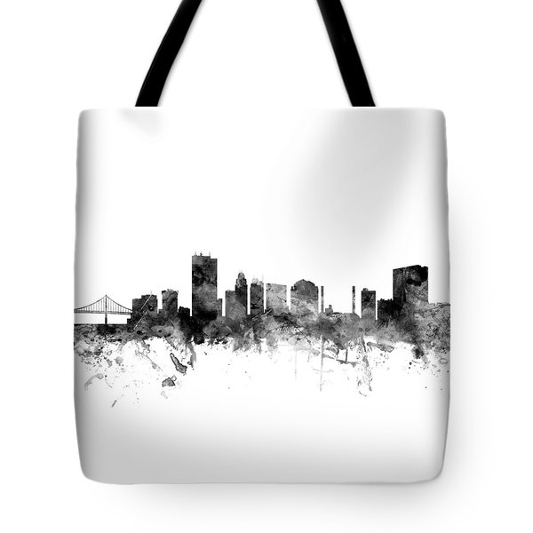 Toledo Ohio Skyline Tote Bag