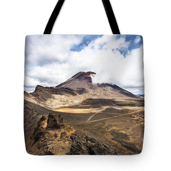 Tongariro Alpine Crossing In New Zealand Tote Bag