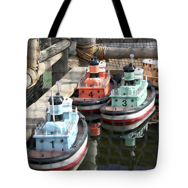 4 Toy Boats Tote Bag
