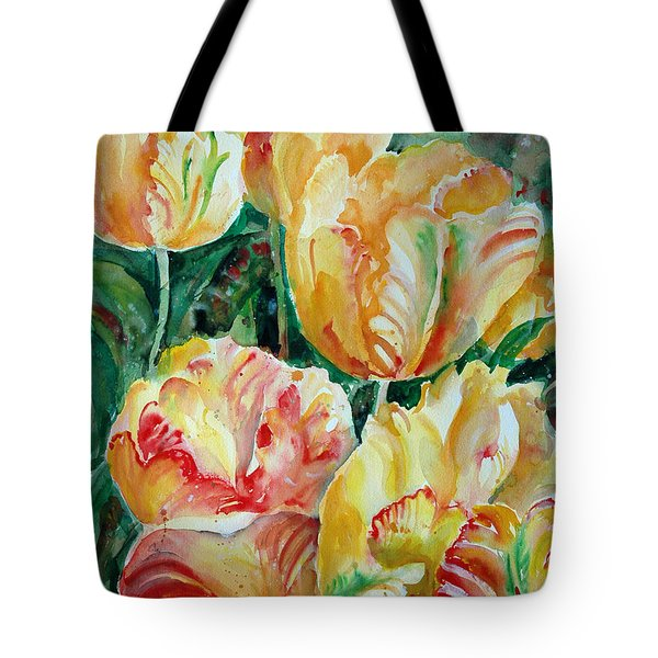 Tulips Tote Bag by Alexandra Maria Ethlyn Cheshire