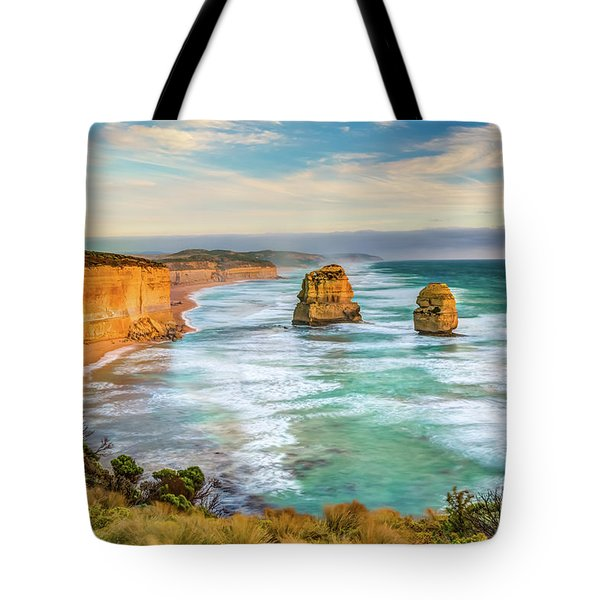 Tote Bag featuring the photograph Twelve Apostles by Benny Marty
