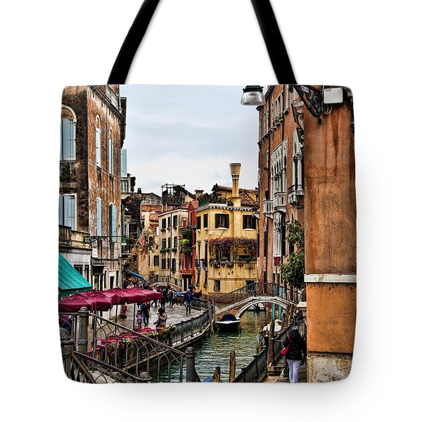 Tote Bag featuring the photograph Venice by Shirley Mangini