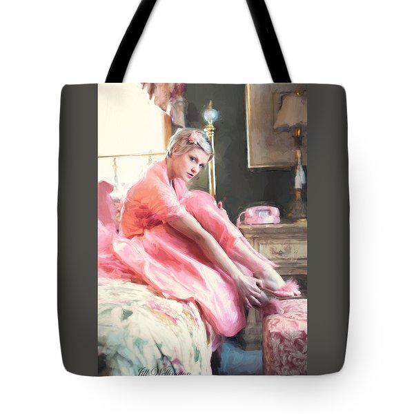 Vintage Val Bedroom Dreams Tote Bag