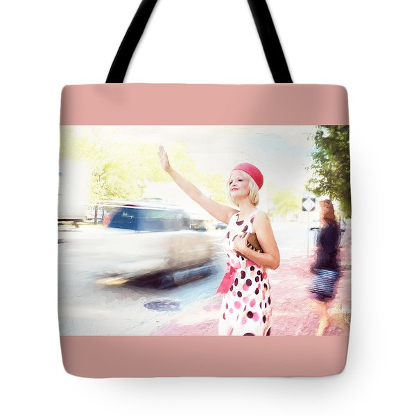 Vintage Val The Coral Hat Tote Bag