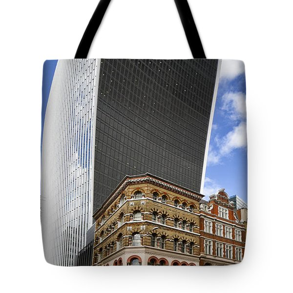 Walkie Talkie Skyscraper London Tote Bag by Shirley Mitchell