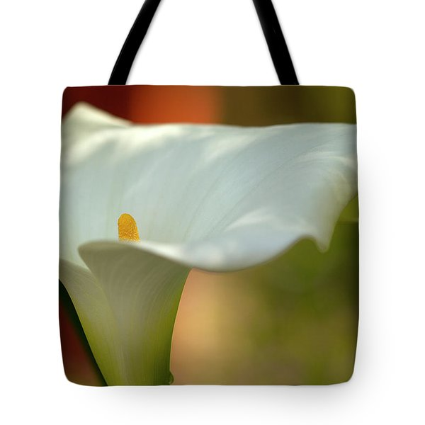 White Calla Tote Bag by Heiko Koehrer-Wagner