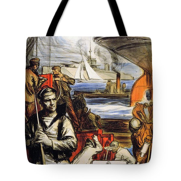 World War I: French Poster Tote Bag by Granger