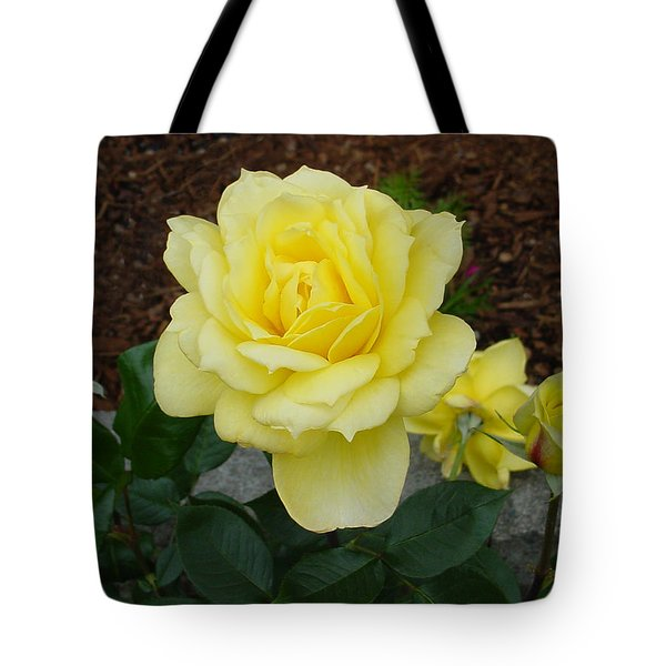 4 Yellow Roses Tote Bag by Shirley Heyn