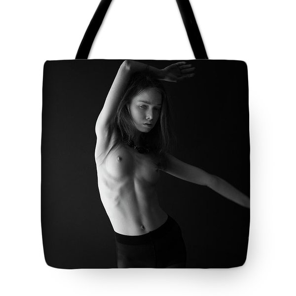 Young Woman In Pantyhose  Tote Bag