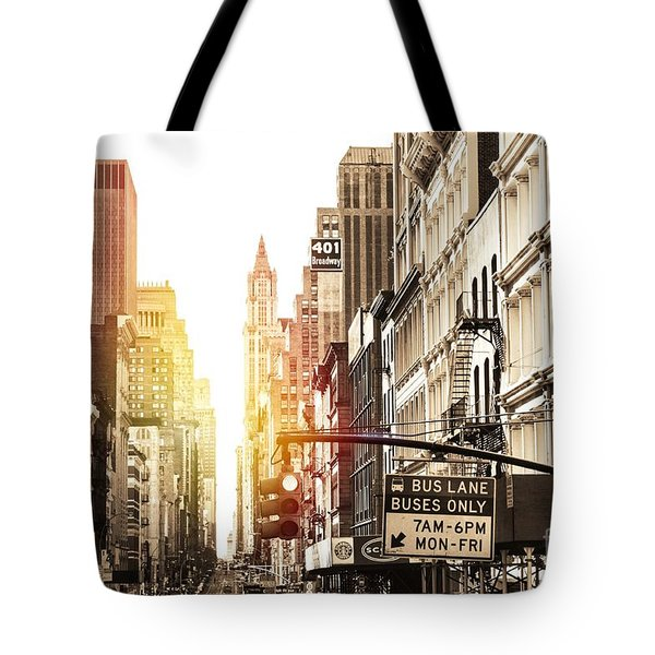 Tote Bag featuring the photograph 401 Broadway by Helge