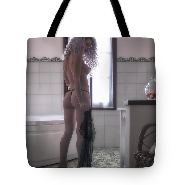 Tote Bag featuring the photograph Tu M'as Promis by Traven Milovich