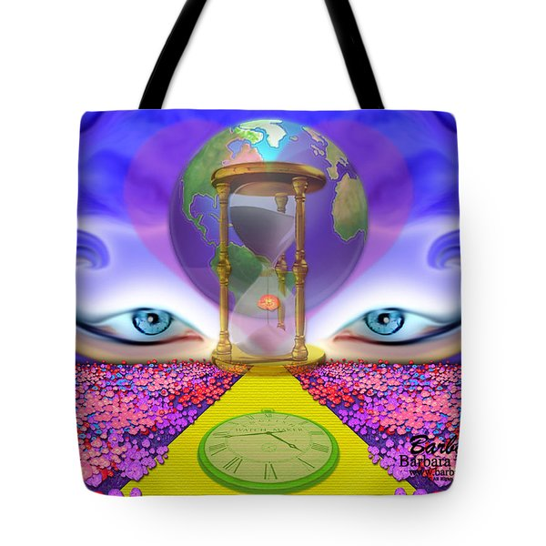 Tote Bag featuring the digital art 444 Pathway by Barbara Tristan