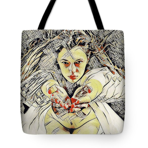 4448s-ab The Succubus Comes For You Erotica In The Style Of Kandinsky Tote Bag