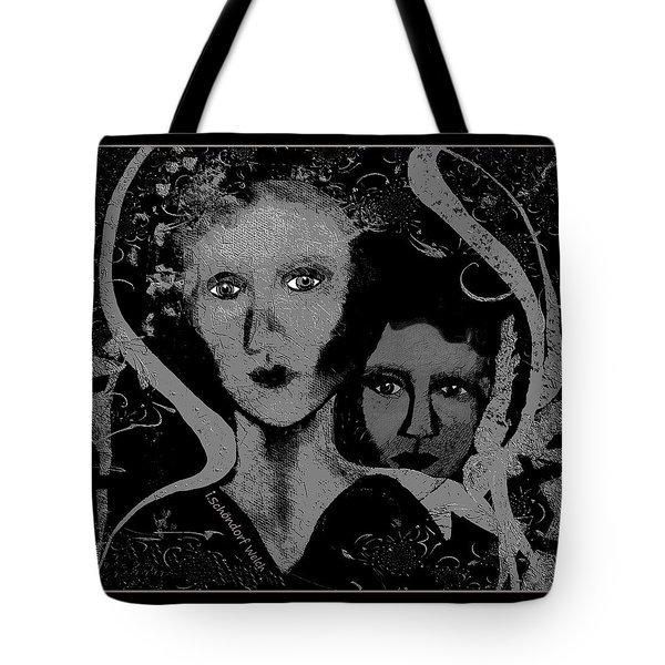 Tote Bag featuring the digital art 450 - Get Off My Back 2017 by Irmgard Schoendorf Welch